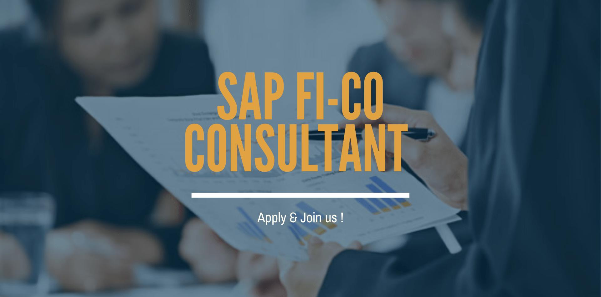 OFFRE DEMPLOI – SAP FICO CONSULTANT