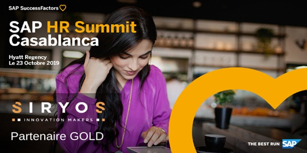 SIRYOS, sponsor Gold de la 1<sup>ère</sup> édition de SAP HR SUMMIT CASABLANCA