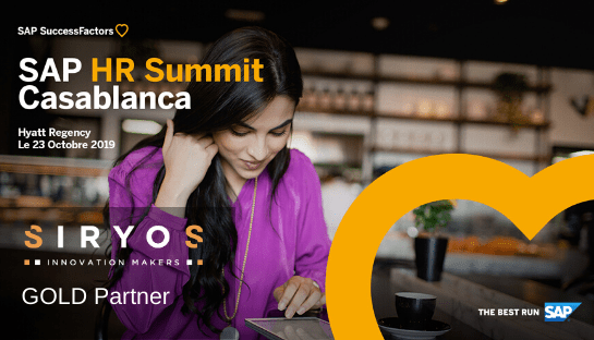SIRYOS, GOLD Sponsor of the 1<sup>st</sup> edition of SAP HR SUMMIT